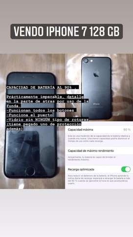 IPhone 7 128 Gb (usado) con 90% de bateria, impectable
