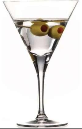 Copas De Cristal Martini 9 Onzas