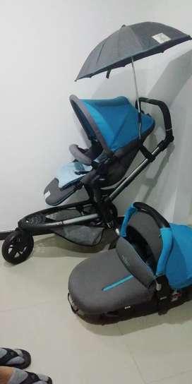 Coche marca jane + silla de vehículos