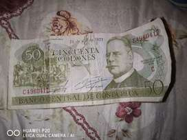 Se vende billete de 50 colones