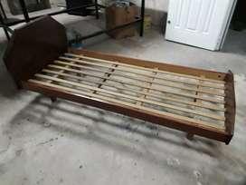 Cama 1plaza madera