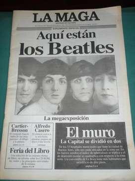 revista la Maga suplemento especial Los Beatles la megaexposicion 1996