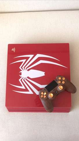 Ps4 pro edicion espiderman + control customizado