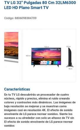 Tv 32 pulgadas LG smart tv dos meses de uso como nuevo