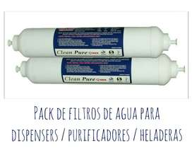 Combo Completo de Filtros para heladeras / purificadores y dispensers de Agua  Top Water