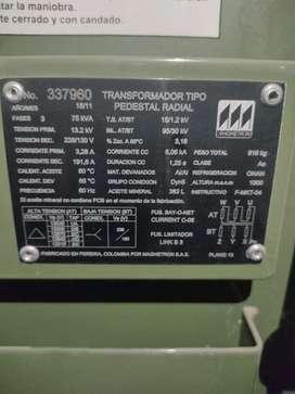 Vendo trasformador 75 KVA