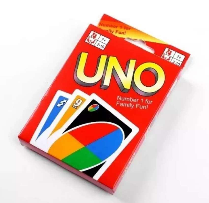 Juego de mesa de cartas uno para niños y adultos 0