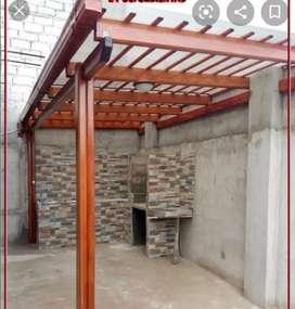 Cerrajería estructura metalicas con policarbonato y novalosa pérgolas puertas portones pasamanos