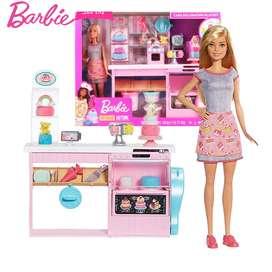 Muñeca Barbie Chef De Pasteles Set Juego Decoracion Cocina Y Accesorios