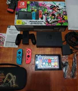 Nintendo switch con micro sd 400 gb completa
