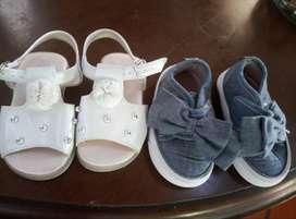 Zapato y sandalia de niña