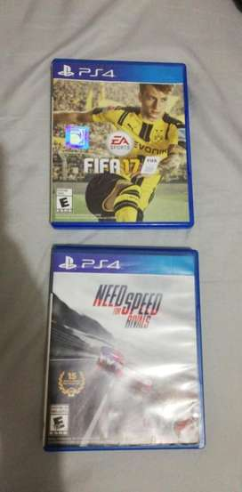 Ps4, Need For Speed Rivals Y Fifa 17