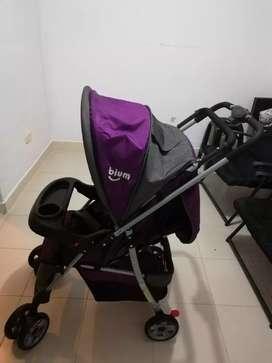 Coche para bebé, poco uso como nuevo