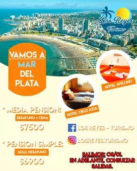 Viajes a Mar Del Plata, super económicos, salidas a partir del 02 febrero, transporte y hotel!