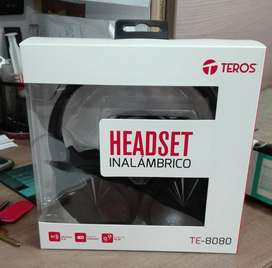 Auriculares Inalámbricos Teros TE-8080, Bluetooth, controles integrados