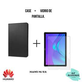 Combo de case Huawei M6 10.8 más vidrio de pantalla