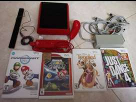 Video juego Wii con 4 juegos originales