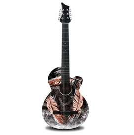 Guitarra Acústica Plumas de Guerra Dr. Fox.