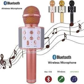 Micrófono Portátil Karaoke Con Parlante Y Bluetooth Ws858