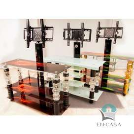 Mesas para tv en vidrio templado