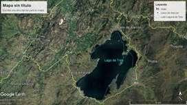 Venta de Lote a orilla de la Laguna de Tota. Municipio de Cuitiva Boyaca. Area 6526 metros cuadrados.