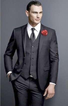 Alquiler - trajes SLIM con chaleco completos elegantes para hombre