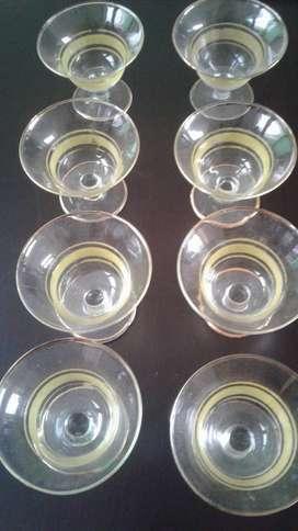 Copas para champagne con filo dorado