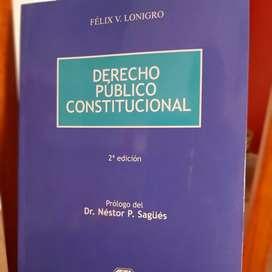 Venta de libro de derecho público y constitucional