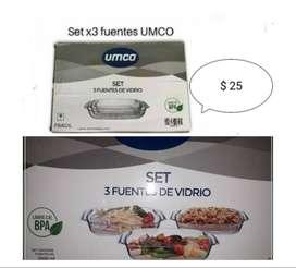 Set de 3 fuentes UMCO
