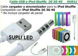 Cable Usb iPod Shuffle 2g 3g 4g Datos