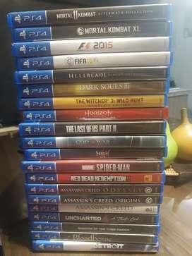 Vendo juegos ps 4