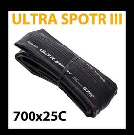 Par de Llantas Continental Ultra Sport III ultra liviana para bicicleta de carretera de 700x25c