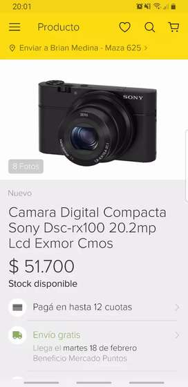 Liquido cámara Sony rxm2