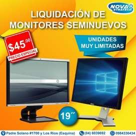 """Gran Liquidación de Monitores Seminuevos 19"""" Cuadrado y 19"""" Rectangula"""
