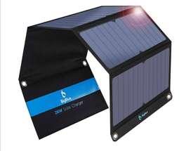 Cargador solar plagable de 28 W