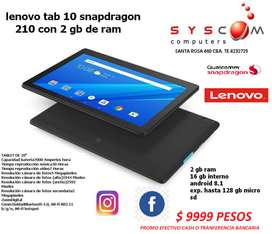"TABLET LENOVO 10"" SUPER POTENTE  2 GB RAM  IDEAL PARA JUEGOS"