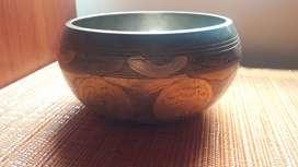 Cuenco tibetano grabado (singing bowl)
