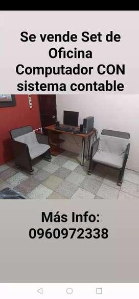 Set de Oficina + computadora
