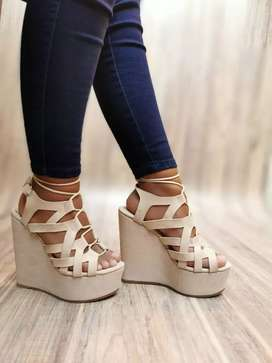 Hermosa sandalias para dama talla 35/40