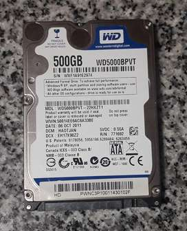 Disco Notebook 500 Gb Western Digital Blue