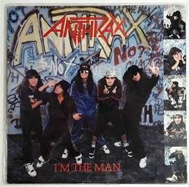 Anthrax I'm The Man Vinilo Ep Island Megaforce 1987
