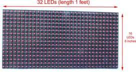 Matrix Led 16x32 P10 Monocolor Indoor Pasamensaje