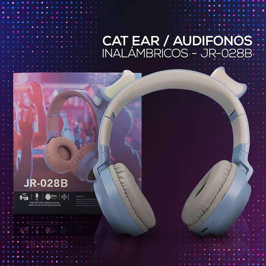 Audífonos Diadema Bluetooth Orejas De Gato