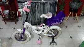 Hermosa bicicleta para nena de 3 a 6 años