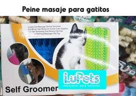 peine rascador masaje gato mascota