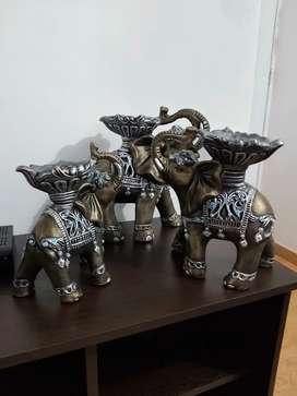 Trio de elefantes velon