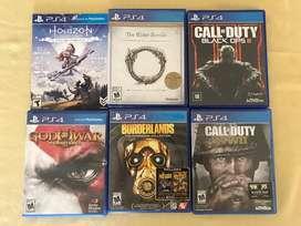Cambio juegos PS4