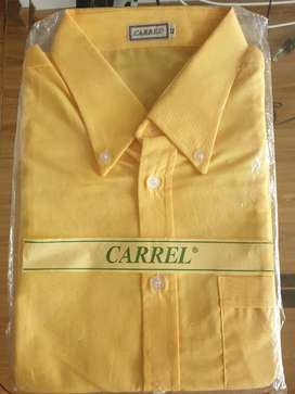 Camisa amarilla manga corta buen material algodón