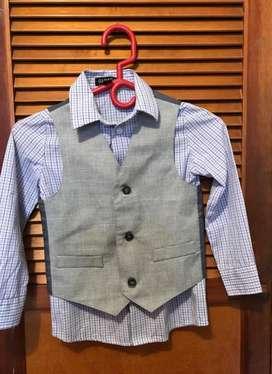 Camisa con chaleco para niño  Importado talla 4.
