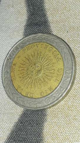 Moneda de un pesos con error en provingia